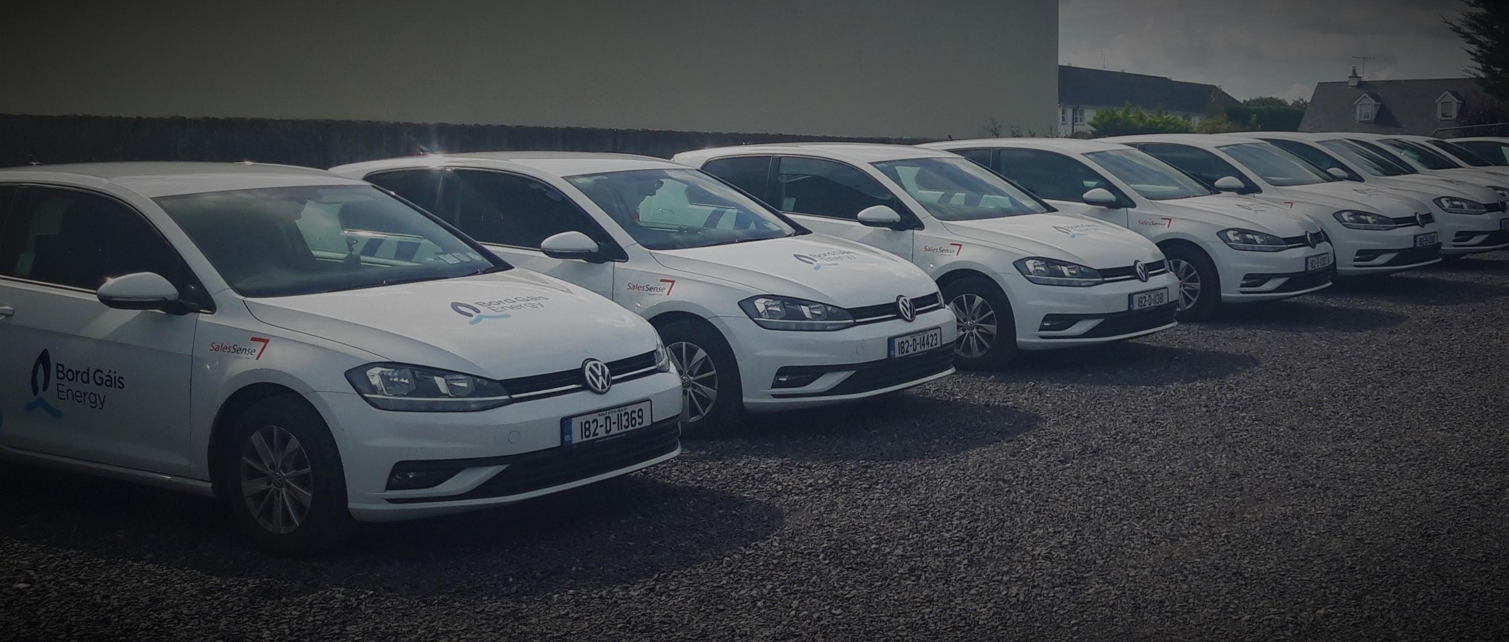 SalesSense fleet of cars